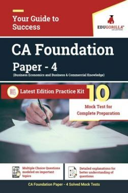 EduGorilla Business Economics And Business And Commercial Knowledge (Paper 4) CA Foundation Exam   10 Mock Test