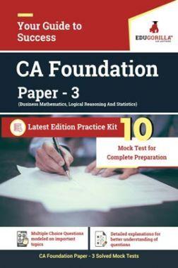 EduGorilla Business Mathematics, Logical Reasoning And Statistics (Paper 3) CA Foundation Exam | 10 Mock Test