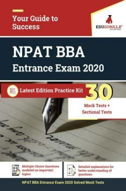 EduGorilla NPAT (BBA) Entrance Exam 2020 | 30 Mock Test + Sectional Test