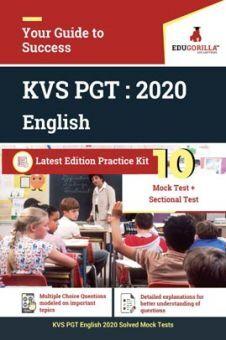 EduGorilla KVS PGT (English) 2020 | 10 Full-length Mock Test + Sectional Test