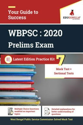 Edugorilla West Bengal Public Service Commission (WBPSC) Prelims 2020 | 7 Full Length Mock Test + Sectional Test | With Complete Solution