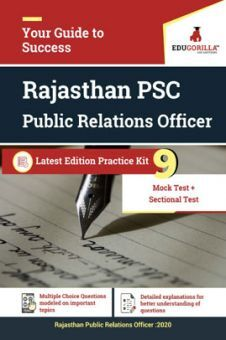 Edugorilla Rajasthan PSC (RPSC) - Public Relations Officer (PRO) 2020   9 Full Length Mock Test + Sectional Test   With Complete Solution