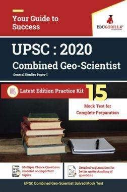 Edugorilla UPSC Combined Geo-Scientist (Prelims) - General Studies 2020   Paper I   15 Mock Test  With Complete Solution