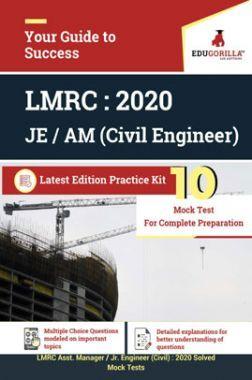 Edugorilla LMRC Junior Engineer (JE) Civil Engineer 2020   10 Mock Test   Latest Edition Practice Kit