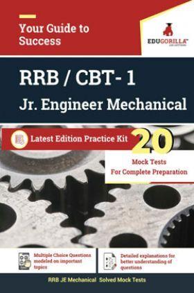 Edugorilla RRB Junior Engineer (JE) Mechanical ME 2020   CBT- 1   20 Mock Test   Latest Edition Practice Kit