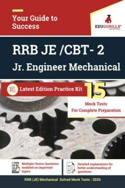 Edugorilla RRB Junior Engineer (JE) Mechanical ME 2020 | CBT- 2 | 15 Mock Test | Latest Edition Practice Kit