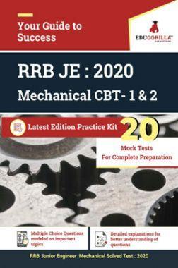 Edugorilla RRB Junior Engineer (JE) Mechanical ME 2020 | CBT- 1 & 2 | 20 Mock Test | Latest Edition Practice Kit