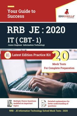 Edugorilla RRB Junior Engineer (JE) Information Technology IT 2020 | CBT- 1 | 20 Mock Test | Latest Edition Practice Kit