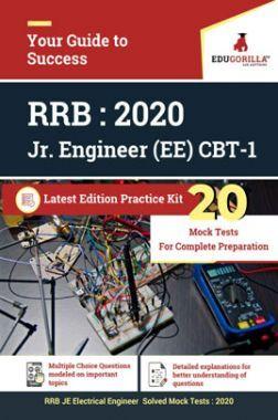 EdugorillaRRB Junior Engineer (JE) Electrical EE 2020 | CBT- 1 | 20 Mock Test | Latest Edition Practice Kit