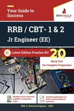 Edugorilla RRB Junior Engineer (JE) Electrical EE 2020 | CBT- 1 & 2 | 20 Mock Test | Latest Edition Practice Kit