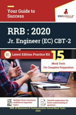 Edugorilla RRB Junior Engineer (JE) Electronics & Communication EC 2020 | CBT- 2 | 15 Mock Test | Latest Edition Practice Kit