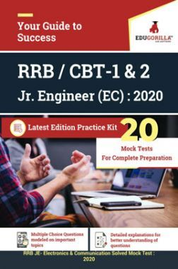 Edugorilla RRB Junior Engineer (JE) Electronics & Communication EC 2020 | CBT- 1 & 2 | 20 Mock Test | Latest Edition Practice Kit