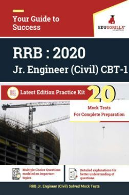 Edugorilla RRB Junior Engineer (JE) Civil CE 2020 | CBT- 1 | 20 Mock Test | Latest Edition Practice Kit