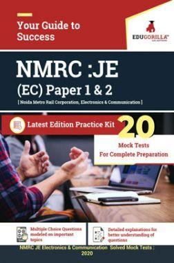 Edugorilla NMRC Junior Engineer (JE) Electronics & Communication EC 2020   Paper 1 & 2   20 Mock Test   Latest Edition Practice Kit