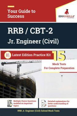 Edugorilla RRB Junior Engineer (JE) Civil CE 2020   CBT- 2   15 Mock Test   Latest Edition Practice Kit