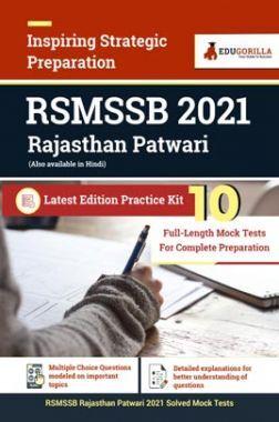 RSMSSB 2021 Rajasthan Patwari | Latest Edition Practice Kit 10 Full-length Mock Test For Complete Preparation