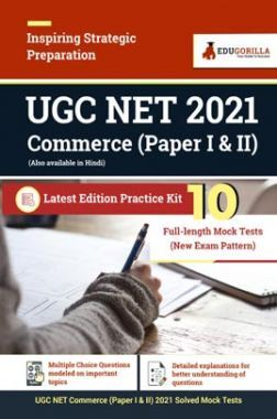 UGC NET Commerce 2021(Paper I & II)   Latest Edition Practice Kit 10 Full-length Mock Test (New Exam Pattern)