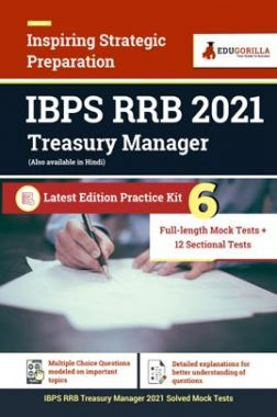 IBPS RRB 2021 Treasury Manager | Latest Edition Practice Kit 6 Full Length Mock Test + 12 Sectional Tests
