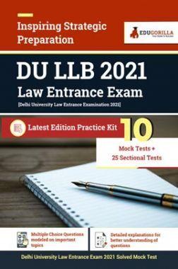 DU LLB 2021 Law Entrance Exam | Latest Edition Practice Kit 10 Mock Test + 25 Sectional Test