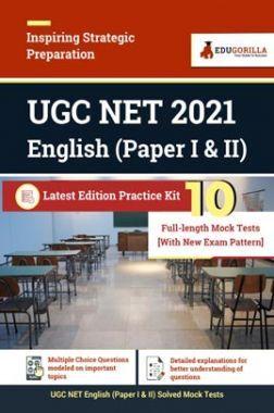 UGC NET 2021 English (Paper I & II)   Latest Edition Practice Kit 10 Full-length Mock Test (With New Exam Pattern)