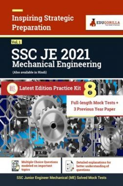 SSC JE 2021 (Mechanical Engineering) | 8 Full Length Mock Tests + 3 Previous Year Paper