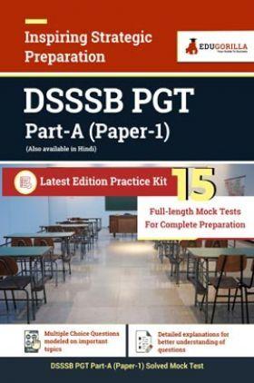 DSSSB PGT Part A Paper-1 | 15 Full-length Mock Tests For Complete Preparation