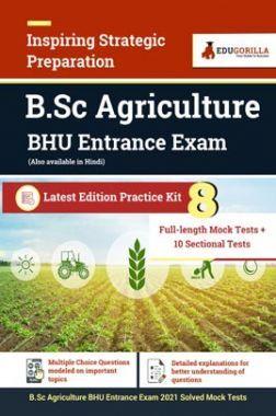 B.Sc Agriculture BHU Entrance Exam   8 Full-length Mock Test + 10 Sectional Test