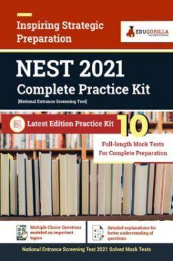 NEST 2021 (National Entrance Screening Test) Complete Practice Kit | 10 Full Length Mock Test for Complete Preparation
