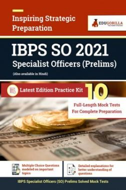 IBPS SO 2021 Specialist Officers (Prelims) | 10 Full Length Mock Tests For Complete Preparation