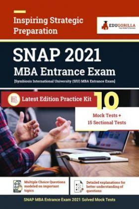 SNAP 2021 MBA Entrance Exam | 10 Mock Test + 15 Sectional Test