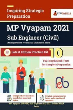 MP Vyapam 2021 Sub Engineer (Civil Engineering) | 10 Full Length Mock Tests For Complete Preparation