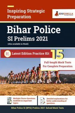 Bihar Police SI Prelims 2021   15 Full-length Mock Test For Complete Preparation