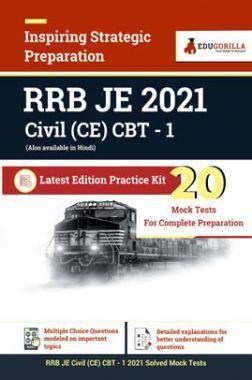 RRB JE 2021 Civil (CE) CBT I   20 Mock Tests For Complete Preparation