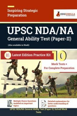 UPSC NDA/NA General Ability Test (Paper II) | 10 Mock Tests For Complete Preparation