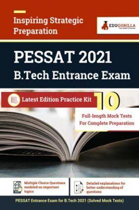 PES Scholastic Aptitude Test (PESSAT) B.Tech Entrance Exam 2021   10 Mock Test   Latest Edition Practice Kit