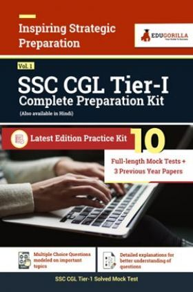 SSC CGL Tier I (Vol.1) 2021   10 Full-length Mock Tests + 3 previous year papers For Complete Preparation