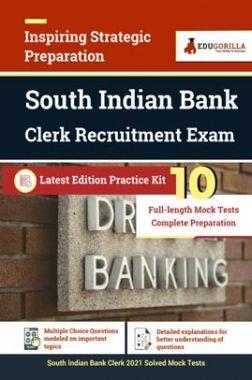 South Indian Bank Clerk 2021   10 Mock Test For Complete Preparation