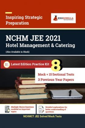 EduGorilla NCHMCT JEE Latest Entrance Exam Book 2021 | Hotel Management & Catering | Prep Kit Of 26 Test (Includes 8 Mock Tests, 15 Sectional Test & 3 Previous Year Papers)