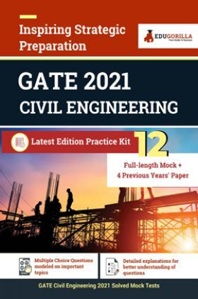 EduGorilla GATE 2021 Entrance Examination For Civil Engineering | 12 Full-Length Mock tests (Solved) + 4 Previous Year Paper | 16 Days Preparation Kit