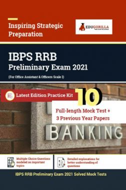 EduGorilla IBPS RRB (Prelims) Exam | Prep Kit Of 13 Test (Includes 10 Mock Tests & 3 Previous Year Papers)