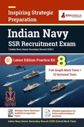 EduGorilla Indian Navy Senior Secondary Recruits (SSR) Recruitment Exam 2021 | Preparation Kit For Senior Secondary Recruits | 8 Full-Length Mock Tests + 12 Sectional Tests