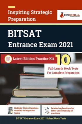 EduGorilla BITSAT Entrance Exam 2021   10 Mock Tests