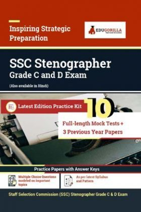 SSC Stenographer Grade C and D Recruitment Exam   2600+ Objective Questions   Practice Sets