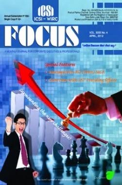 e-Focus April 2012 by ICSI