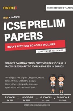 Exam18 ICSE Class 10 Prelim Papers Package Of Best Schools (All Subjects) - Unsolved Papers - 5 Schools