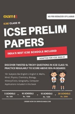 Exam18 ICSE Class 10 Prelim Papers Package Of Best Schools (All Subjects) - Unsolved Papers - 20 Schools