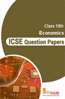 ICSE Sample Question Papers For Class 10 Economics