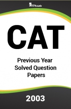 CAT Previous Year Solved Question Papers  2003
