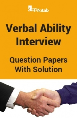 Verbal Ability Interview Question Papers With Solution