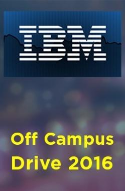IBM Off Campus Drive 2016